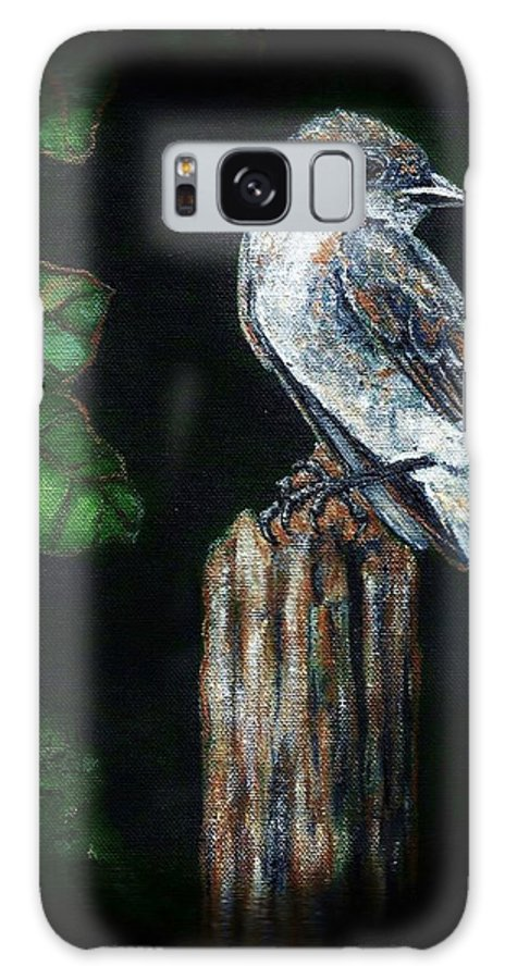 Bird Galaxy S8 Case featuring the painting Phoebe Drama by VLee Watson