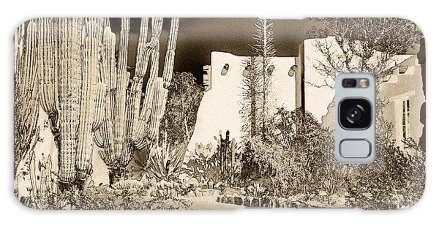Botanical Garden Galaxy S8 Case featuring the digital art Phoenix Botanical Garden Path by Georgianne Giese
