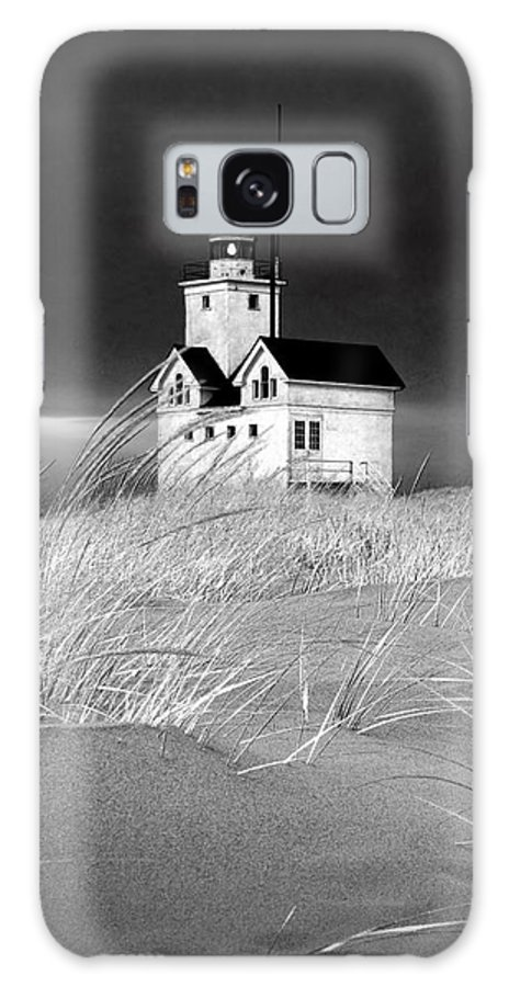 Art Galaxy S8 Case featuring the photograph Photograph Of The Lighthouse Big Red In Holland Michigan by Randall Nyhof