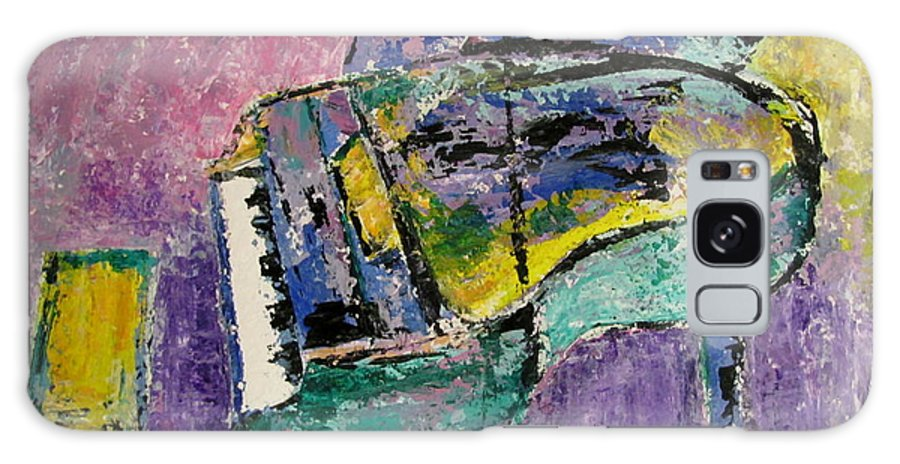 Impressionist Galaxy S8 Case featuring the painting Piano Green by Anita Burgermeister