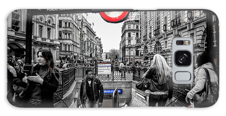 England Galaxy S8 Case featuring the photograph Piccadilly Circus Tube Station Entrance by Marc Miller