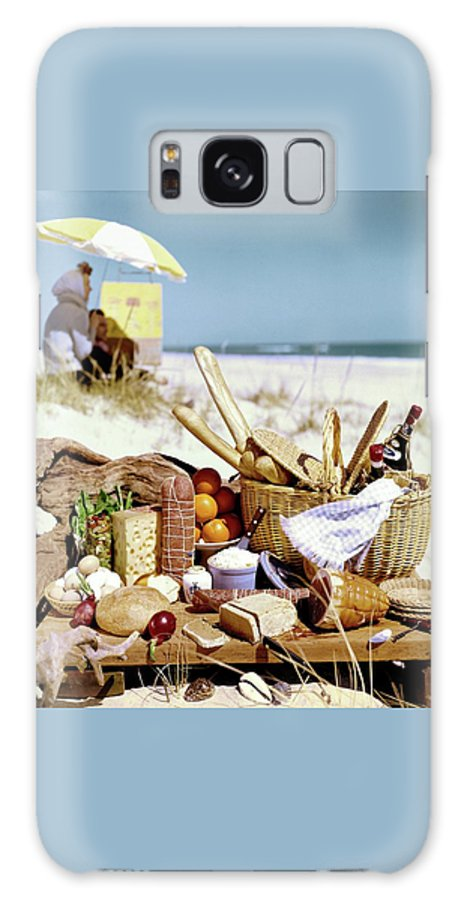 Still Life Galaxy S8 Case featuring the photograph Picnic Display On The Beach by Stan Young