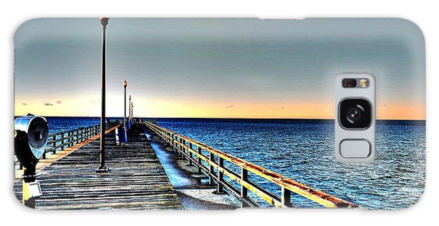 Pier Galaxy S8 Case featuring the photograph Pier - Chesapeake Bay Bridge #1 by Srinivasan Venkatarajan