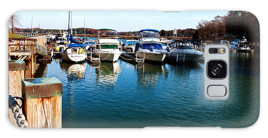Art Galaxy S8 Case featuring the photograph Pier Pressure - Lake Norman by Paulette B Wright