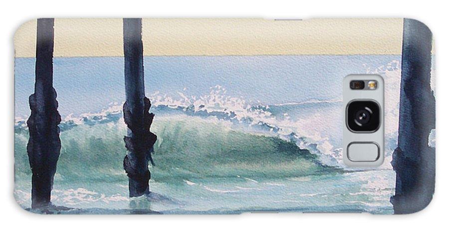 Wave Galaxy Case featuring the painting Pier Wave by Philip Fleischer