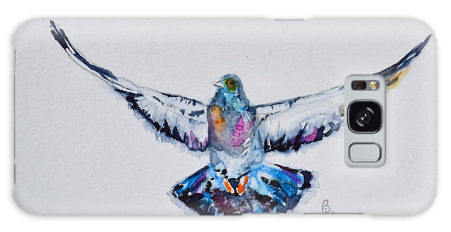 Pigeon In Flight Galaxy S8 Case featuring the painting Pigeon In Flight by Beverley Harper Tinsley