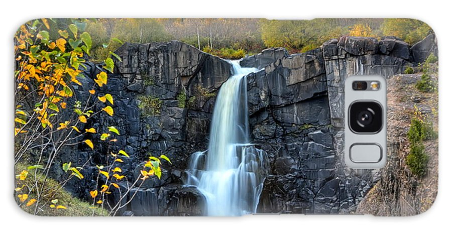 Pigeon River Galaxy S8 Case featuring the photograph Pigeon River Falls by Bryan Benson