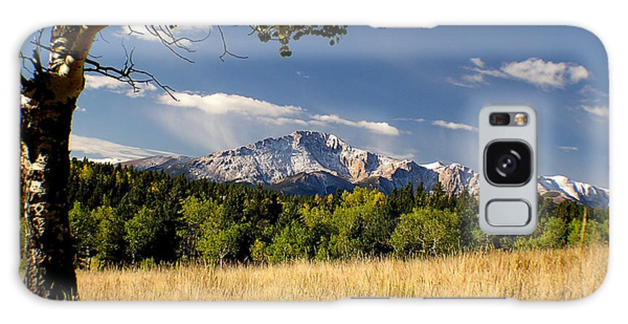 Pikes Peak Galaxy S8 Case featuring the photograph Pikes Peak And Snow by Carol Milisen