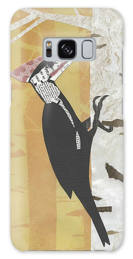 Pileated Woodpecker Galaxy S8 Case featuring the mixed media Pileated Woodpecker by Brian Fuchs