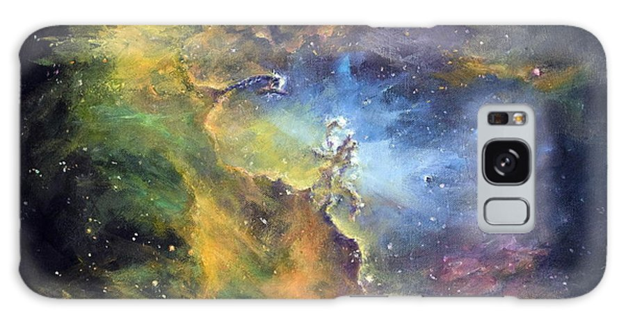 Nebula Galaxy S8 Case featuring the painting Pillars Of Creation by Marie Green