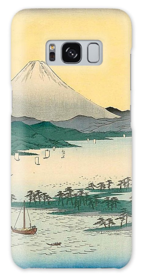 1858 Galaxy Case featuring the painting Pine Beach At Miho In Suruga Province by Utagawa Hiroshige