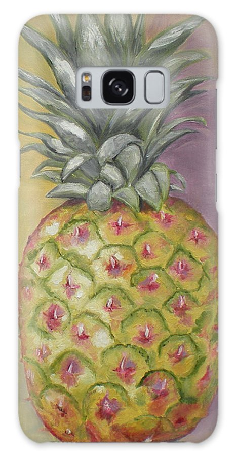 Pineapple Painting Galaxy S8 Case featuring the painting Pineapple by Graciela Castro