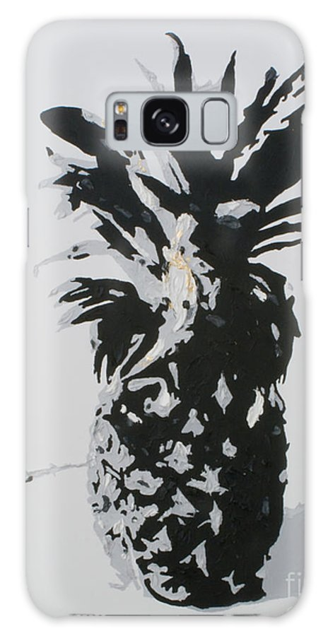Pineapple Galaxy S8 Case featuring the painting Pineapple by Katharina Filus