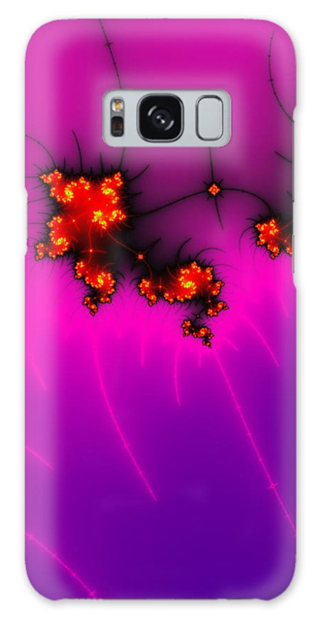 Pink Galaxy S8 Case featuring the digital art Pink And Purple Digital Fractal Artwork by Matthias Hauser