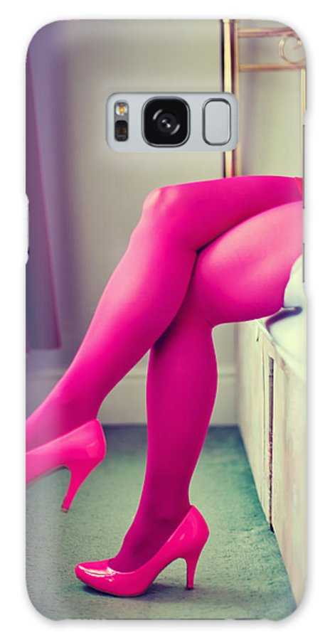 Stilettos Galaxy S8 Case featuring the photograph Pink Legs by Innershadows Photography