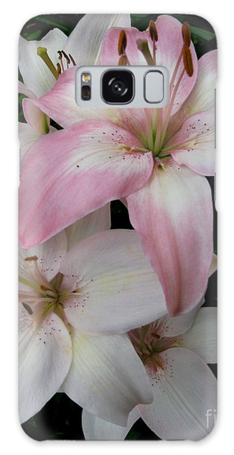Pink Galaxy S8 Case featuring the photograph Pink Lily by Nancie Johnson