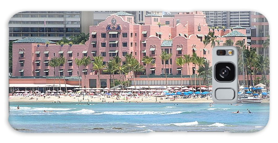 Beach Galaxy S8 Case featuring the photograph Pink Palace On Waikiki Beach by Mary Deal