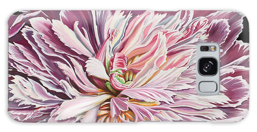 Flower Galaxy Case featuring the painting Pink Peony by Jane Girardot