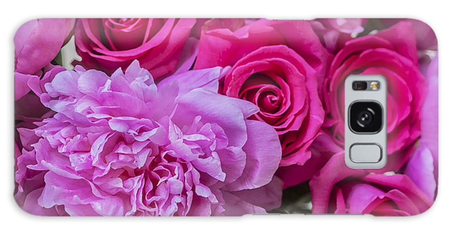 Pink Roses Galaxy S8 Case featuring the photograph Pink Roses And Peonies Please by Rich Franco
