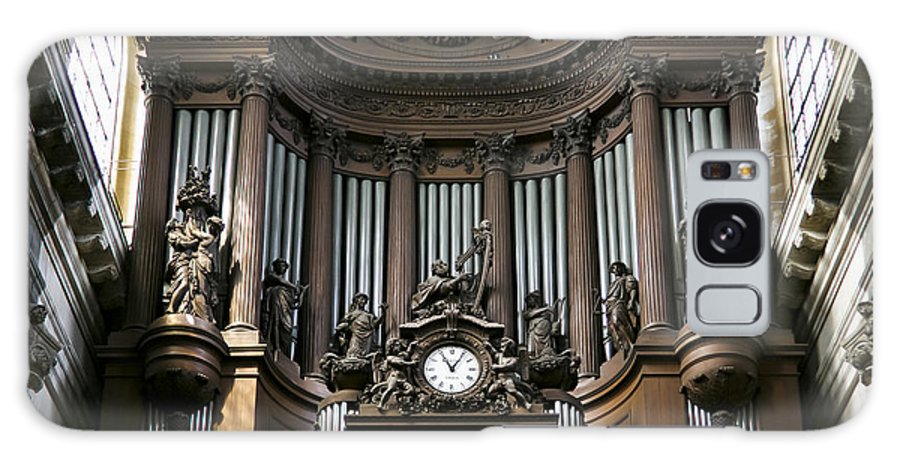 Pipe Organ Galaxy S8 Case featuring the photograph Pipe Organ In St Sulpice by Jenny Setchell
