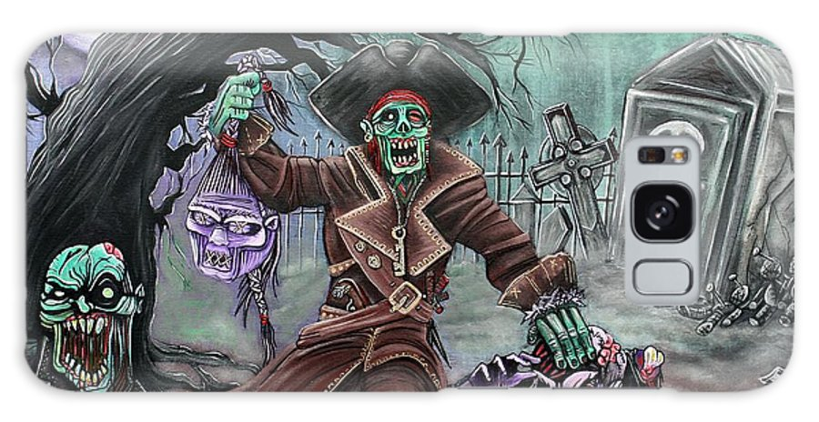 Pirate Galaxy S8 Case featuring the painting Pirate's Graveyard 2 by Laura Barbosa