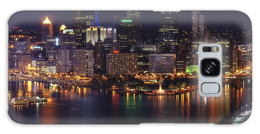 Pittsburgh Galaxy S8 Case featuring the photograph Pittsburgh After The Setting Sun by Michelle Joseph-Long