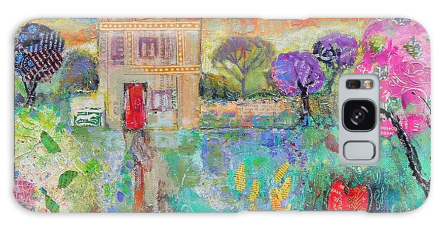 Landscape Galaxy S8 Case featuring the photograph Place In The Country, 2014, Acrylicpaper Collage by Sylvia Paul