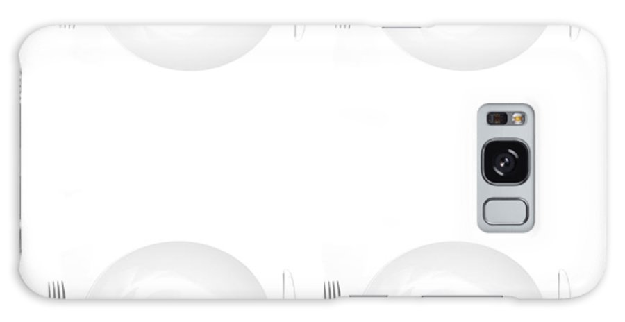 Plate Galaxy S8 Case featuring the photograph Place Settings For Four by Lane Erickson