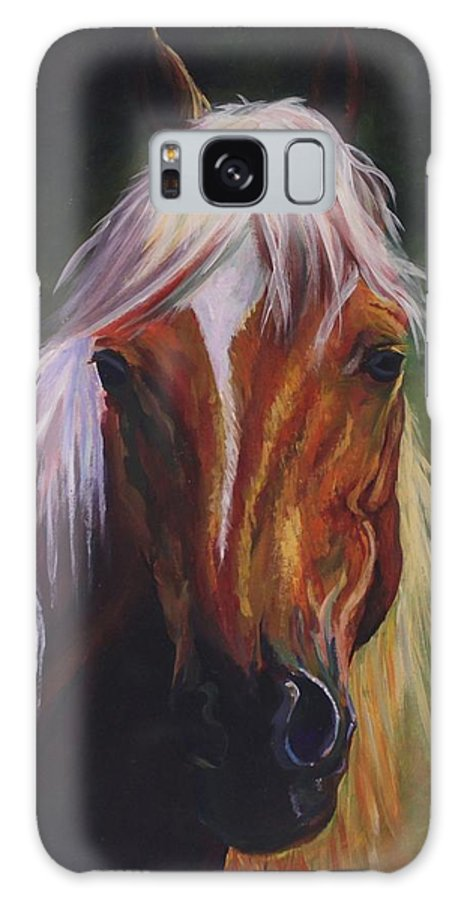 Horse Green Face Calm Pretty Galaxy S8 Case featuring the digital art Placid by Poppy Paizs