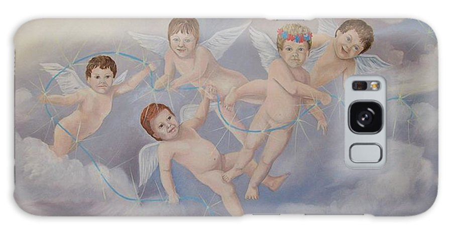 Angels Galaxy Case featuring the painting Placing The Stars by Wanda Dansereau