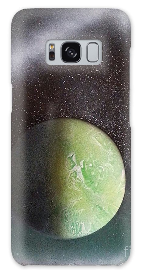 Spaceart Galaxy S8 Case featuring the painting Planet Au Vert by Steven Stewart