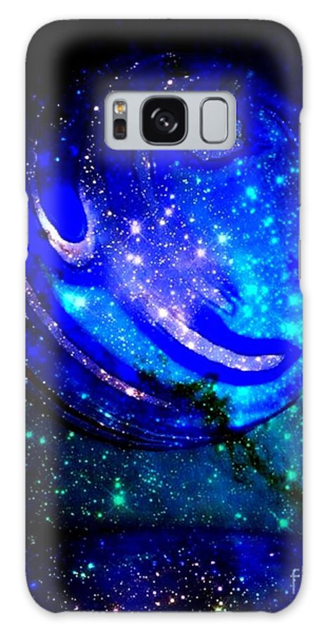 Planet Galaxy S8 Case featuring the digital art Planet Disector Reflected by Saundra Myles