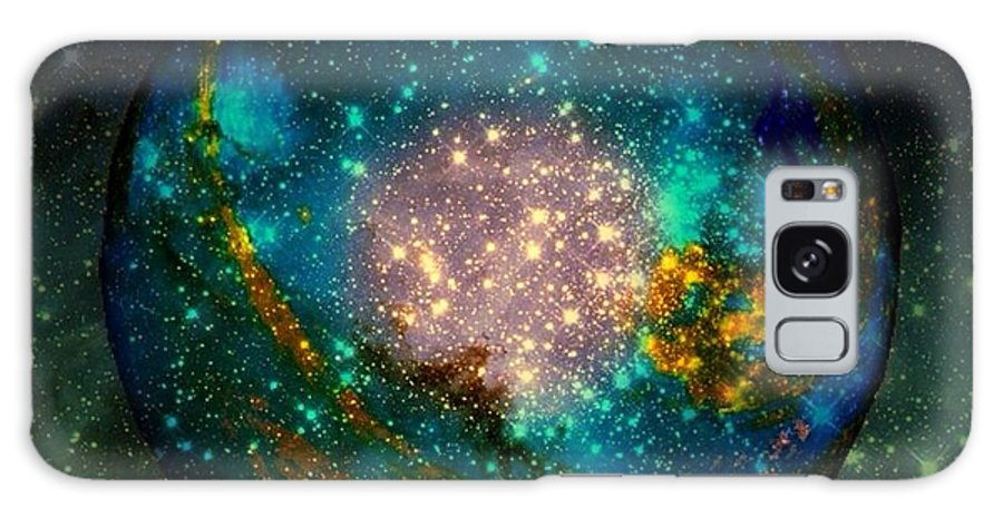 Planet Galaxy S8 Case featuring the painting Planet Disector Shadows by Saundra Myles