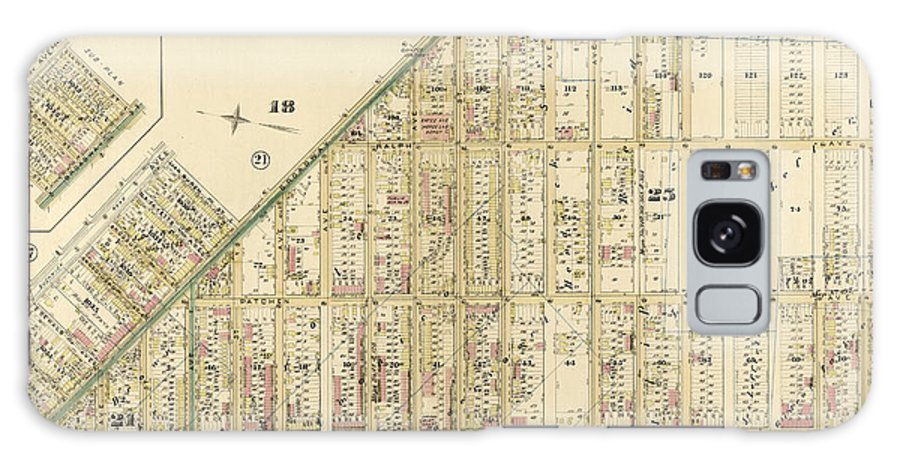 Plate 20 Galaxy S8 Case featuring the drawing Plate 20 Part Of Wards 18, 21 & 25. Brooklyn by Litz Collection