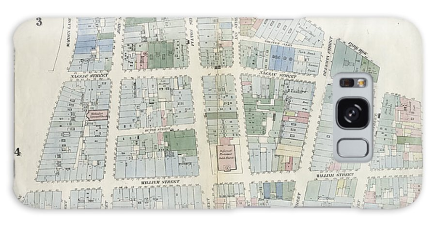 Plate 6 Galaxy S8 Case featuring the drawing Plate 6 Map Bounded By City Hall Square by Litz Collection