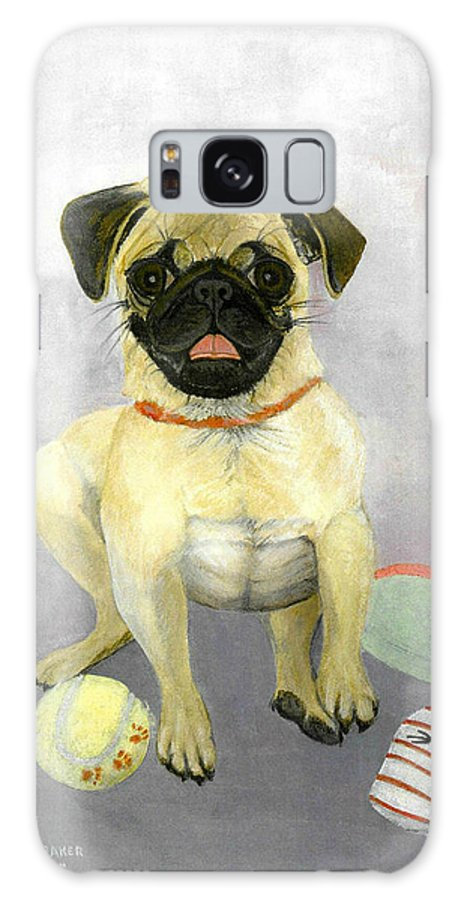 Pug Galaxy S8 Case featuring the painting Play Time by Brenda L Baker