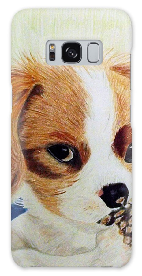 Puppy Galaxy S8 Case featuring the drawing Playful Ginger by Zelma Hensel