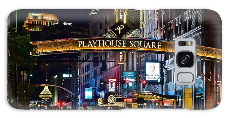 Cleveland Galaxy Case featuring the photograph Playhouse Square by Frozen in Time Fine Art Photography