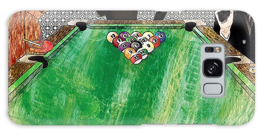 Curtains Galaxy S8 Case featuring the digital art Playing Pool My Way by Liane Wright