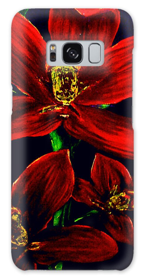 Orchid Galaxy Case featuring the painting Please Love Me Outstandingly Well by Arianne Lequay
