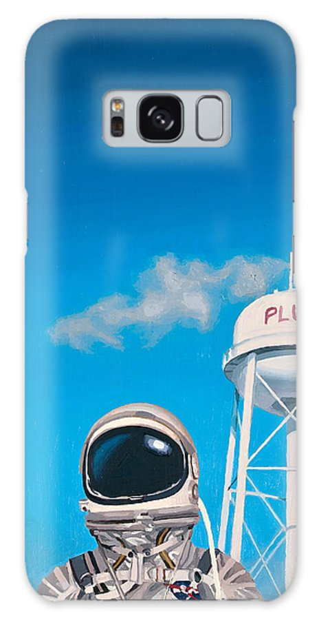 Astronaut Galaxy S8 Case featuring the painting Pluto by Scott Listfield