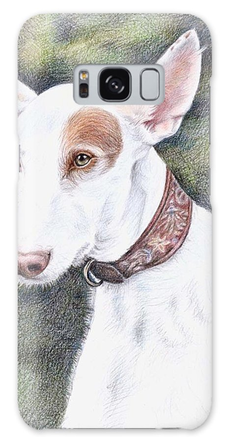 Dog Galaxy Case featuring the drawing Podenco Ibicenco by Nicole Zeug