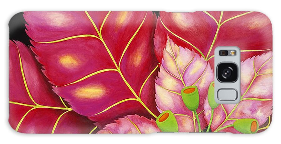 Acrylic Galaxy Case featuring the painting Poinsettia by Carol Sabo