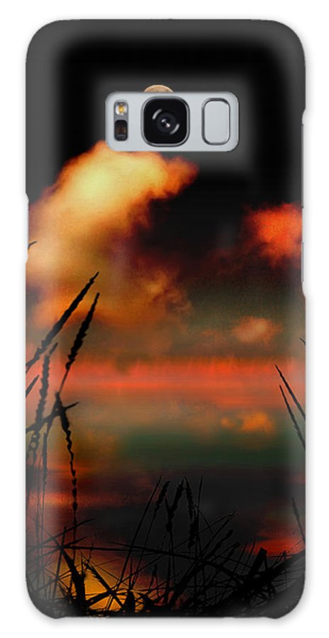 Landscape Galaxy S8 Case featuring the photograph Pointing At The Moon by Mal Bray