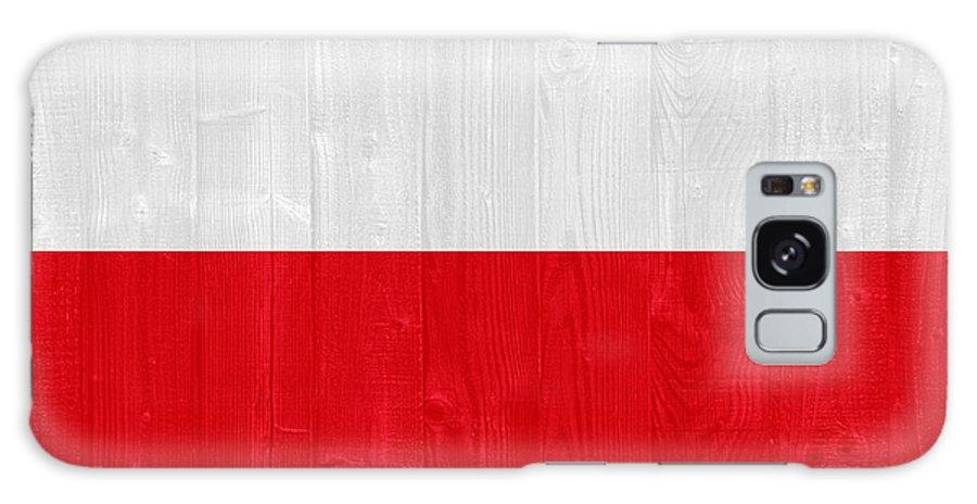 Poland Galaxy S8 Case featuring the photograph Poland Flag by Luis Alvarenga