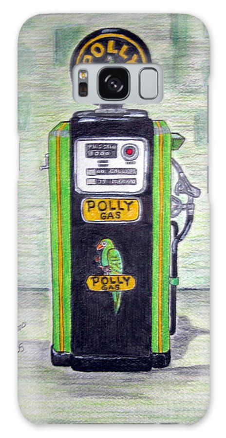 Parrot Galaxy S8 Case featuring the painting Polly Gas Pump by Kathy Marrs Chandler