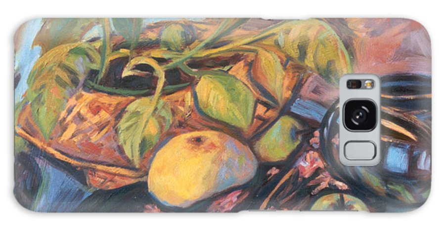 Still Life Galaxy Case featuring the painting Pollys Plant by Kendall Kessler