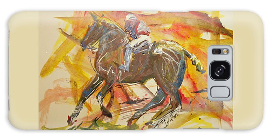Polo Galaxy S8 Case featuring the painting Polo by Diane Wallace
