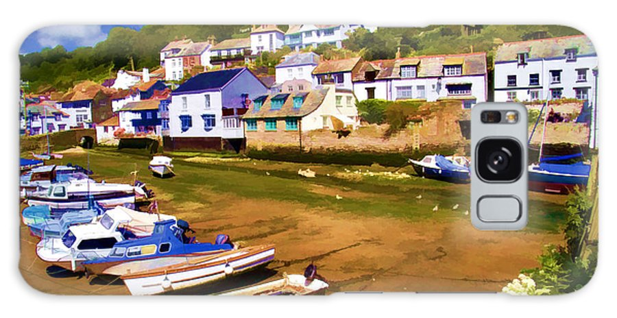 Polperro Galaxy S8 Case featuring the photograph Polperro At Low Tide by David Smith