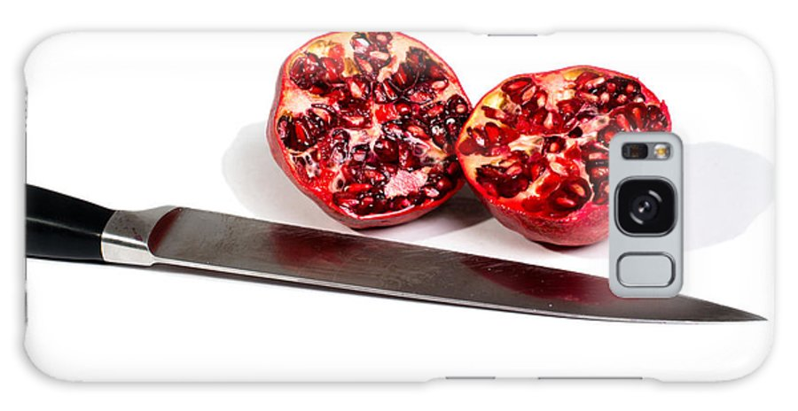 Pomegranate Galaxy S8 Case featuring the photograph Pomegranates And Knife by Frank Gaertner